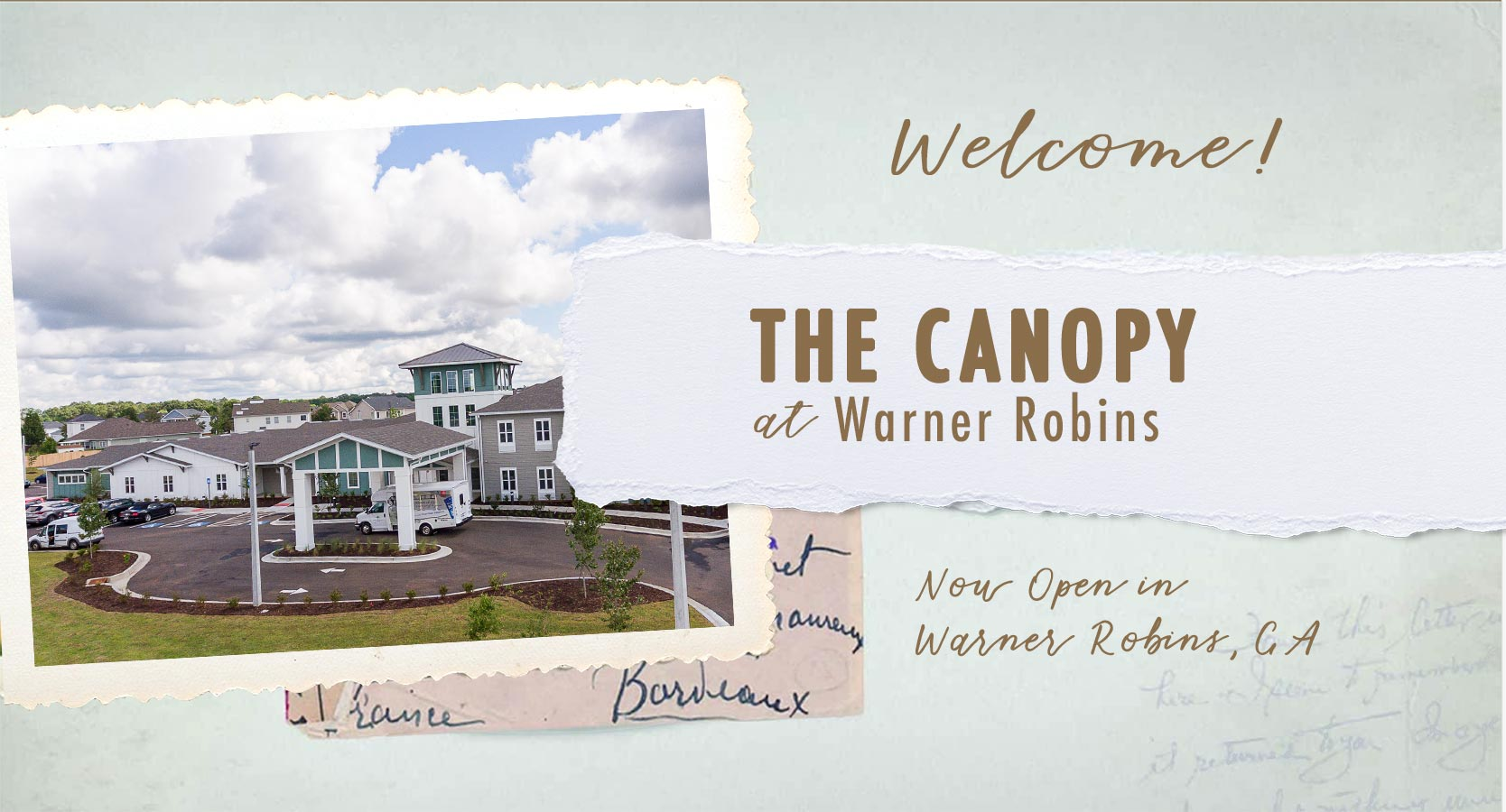 Welcome to The Canopy at Warner Robins and assisted living and memory care community in Warner Robins, GA. We are Now Open!