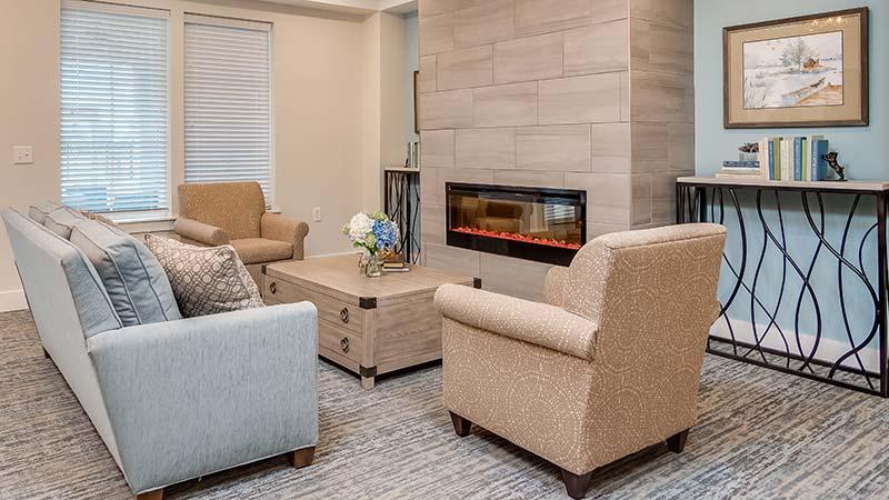 Cozy Seating Around The Fireplace