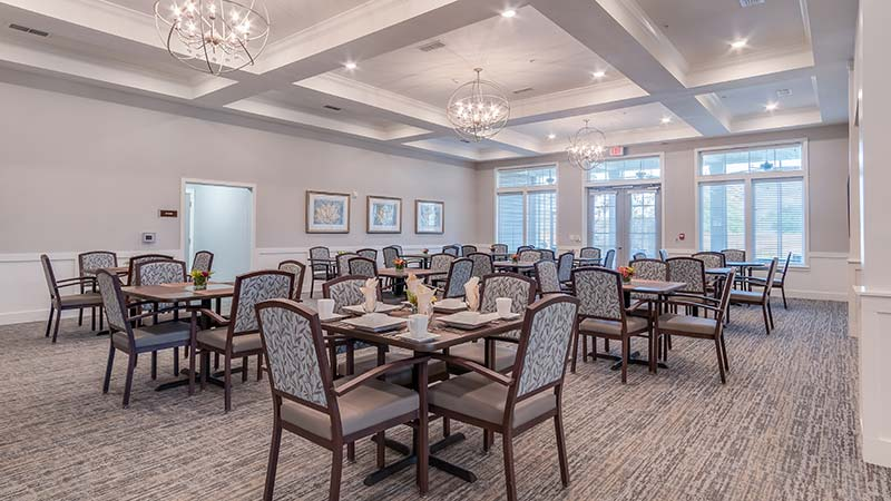 Elegant Dining Hall With Restaurant-style Seating And Service