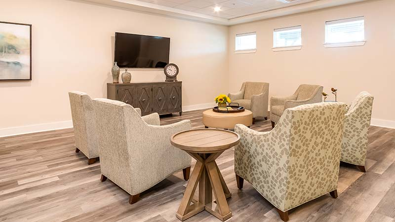 Seating In A Gathering Area With TV