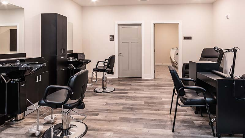 On-site Beauty Salon And Barber Shop For Residents