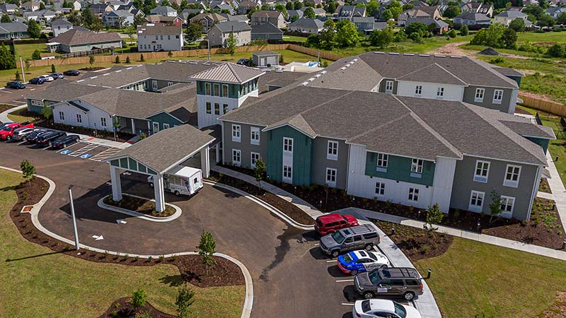 Aerial Photo Of The Canopy At Warner Robins Campus